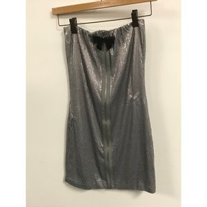 NWT LF Full Sequin Bow Accent Night Out Dress